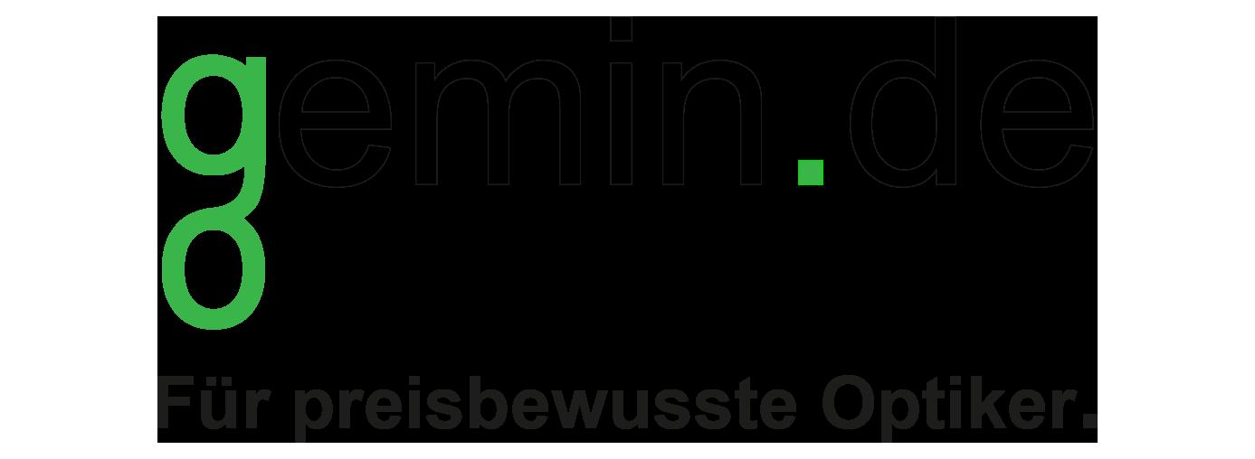 gemin.de Optikversand Optik Shop Pads Schrauben Stege Hülsen Bügelenden-Logo